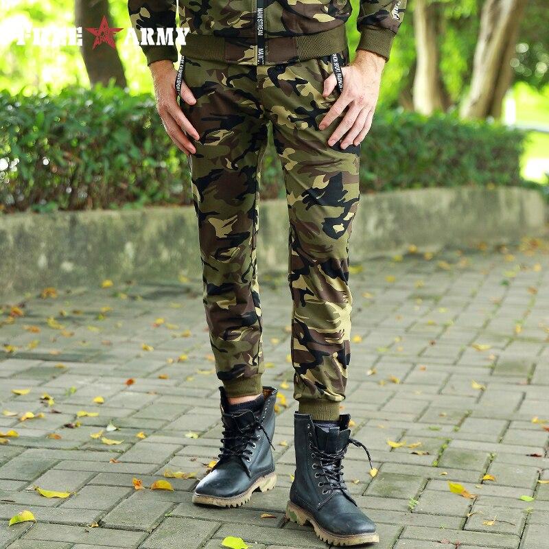 2018 كامو الرجال السراويل Sweatpants مرونة الخصر عارضة الازياء سراويل قطنية الجيش التكتيكية العسكرية الملابس رجل التمويه بانت