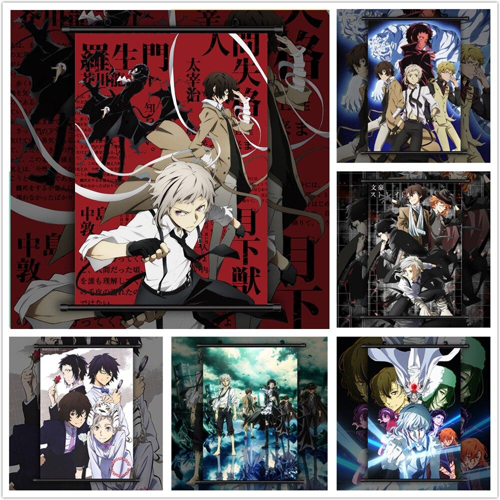 Bungou бродячие собаки Dazai Chuuya Ryunosuke Аниме Манга настенный плакат прокрутка C