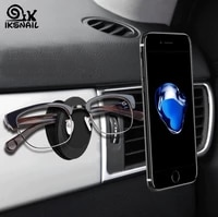 iksnail car magnet mobile phone holders magnetic universal air outlet mount gps stands for iphone multifunction glasses holder