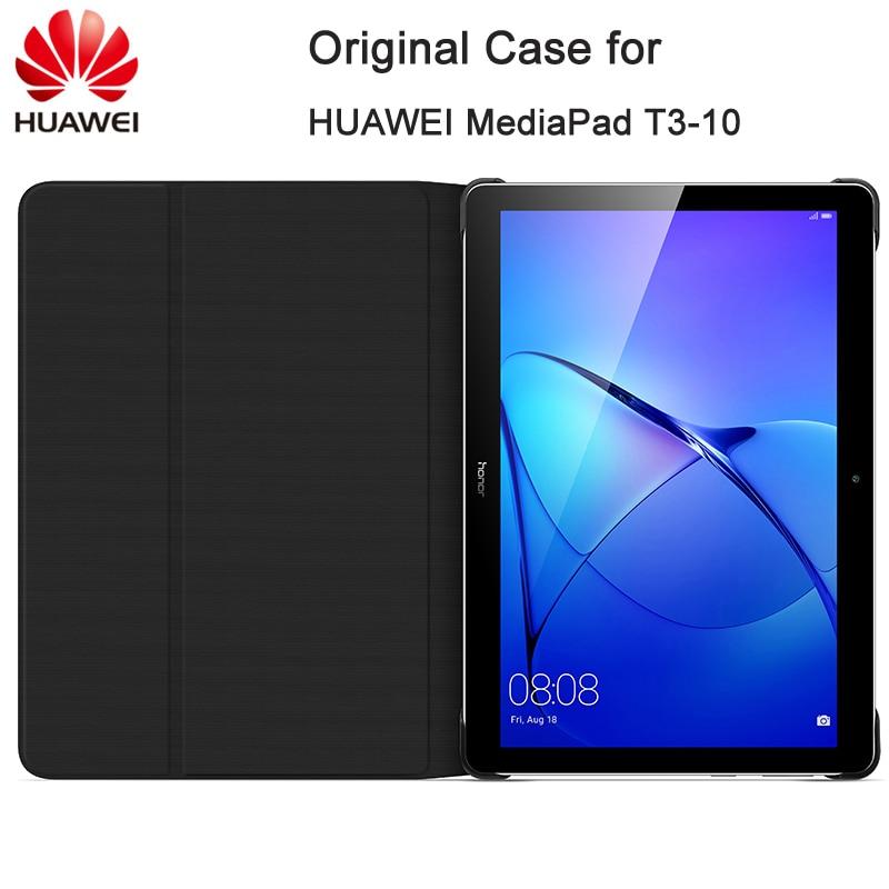 "Funda para Tablet Original HUAWEI Mediapad T3 10/T3 8 "", funda protectora plegable de piel sintética con soporte, funda protectora para AGS L09 W09/KOB-L09 W09"