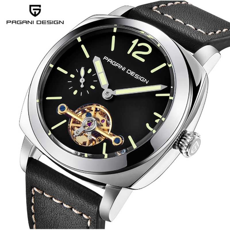 Часы PAGANI, дизайнерские, Роскошные, Tourbillon, механические, водонепроницаемые, 30 м, из натуральной кожи, модные, повседневные, деловые, автоматич...