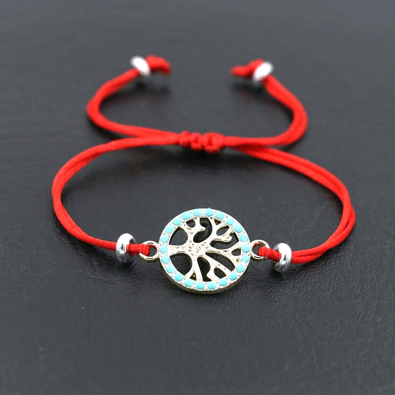 BPPCCR pulseras amuleto de árbol de la suerte para mujeres, hombres, parejas, niños, hilo rojo, amistad, amor, deseo, pulseras de regalo