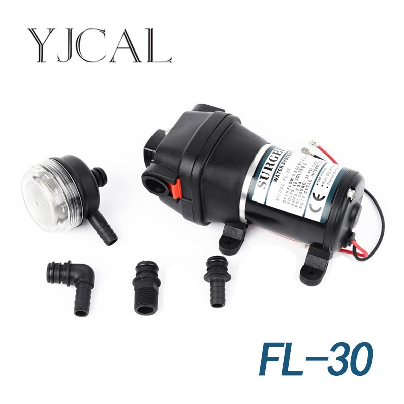 water purifier pure water machine self priming booster pump tap water water heater 12v 60w boosting pump FL-30 12V 24V DC Electric Vehicle, Yacht Life Boosting Water Supply, Self Priming Water Pump, Outdoor Pump