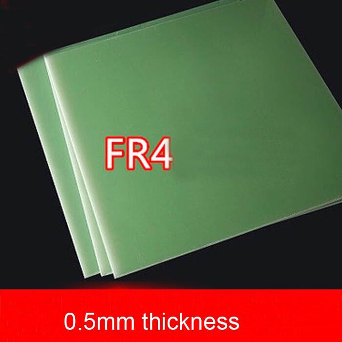 Lámina de fibra de vidrio FR4 de 0,5mm de espesor Placa de epoxi verde agua Placa de resina epoxi 3240 FR-4