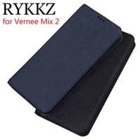 rykkz luxury leather flip cover for vernee mix 2 mobile stand case for vernee mix 2 leather phone 6 case cover