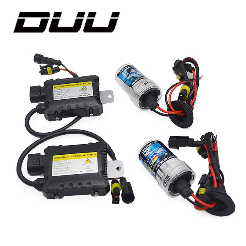 DUU 35W 55W Slim Ballast kit HID Xenon Light bulb 12V H1 H3 H7 H11 9005 9006 4300k 5000k 6000k 8000k Auto Xeno Headlight Lamp