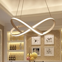 post modern personality led pendant light ring for simple living room restaurant bar dining room hanging lamp