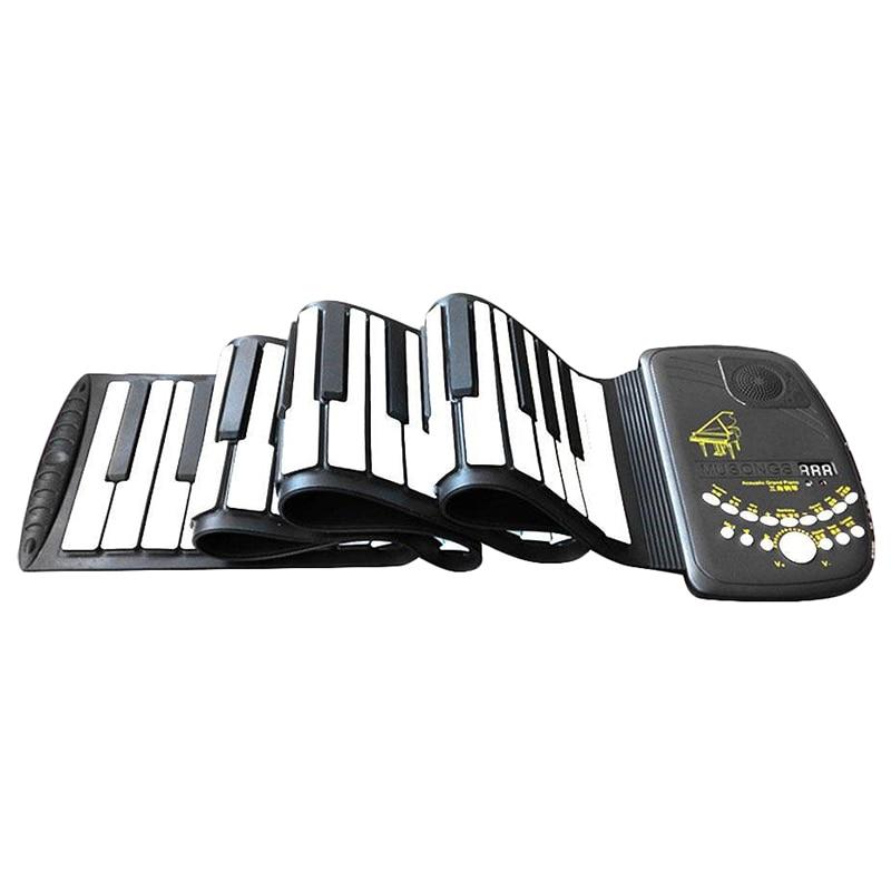 Costura-enrollar Piano 88 teclas órgano electrónico teclado Flexible instrumentos teclado electrónico Piano regalo adulto