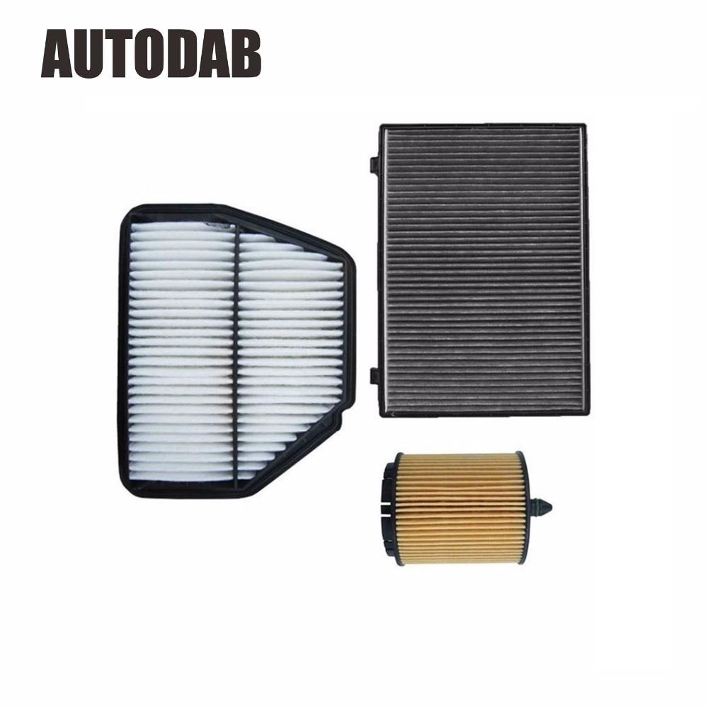 High Quality filters for Chevolet Captiva 2.4L Opel Antara 2.4 air filter+oil filter+cabin filter