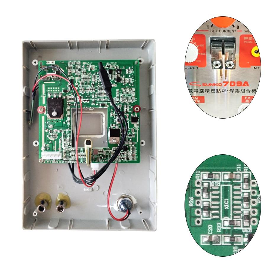 SUNKKO-لوحة دوائر اللحام الموضعي 709A ، 709A ، لبطارية 18650 ، آلة لحام البقعة ، استبدال إصلاح لوحة الدوائر