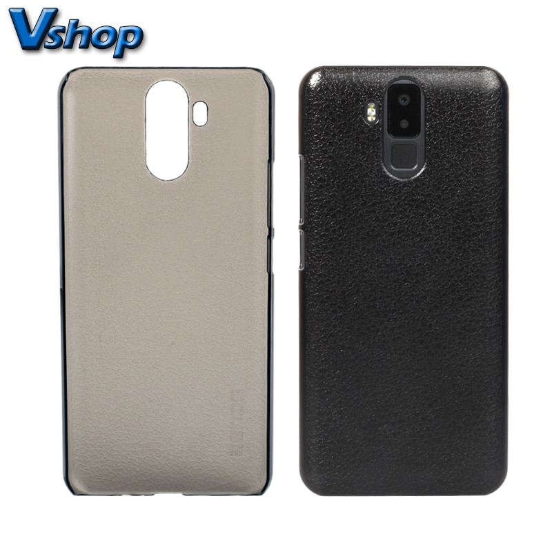 Cubo para vernee x caso smartphone lichi textura pc capa protetora do telefone móvel caso capa traseira escudo