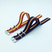 18mm, 20mm, 22mm, 24mm montre Bracelet otan Bracelet en Nylon pour femmes/hommes montre Bracelet ceinture poignet bande arc-en-ciel, drapeau espagnol