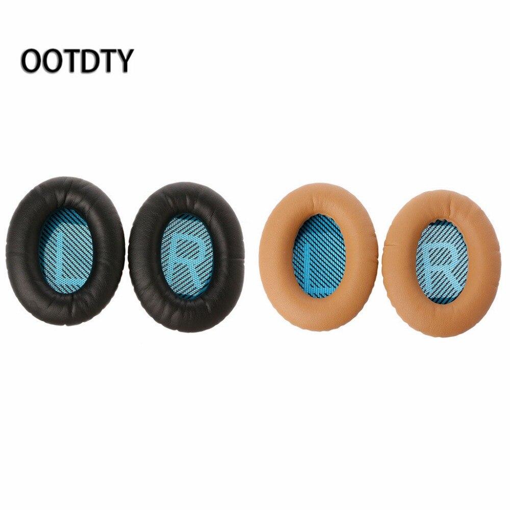 1 par cuero proteico almohadillas para los Quietcomfort 2 QC25 AE2 QC2 QC15 auriculares