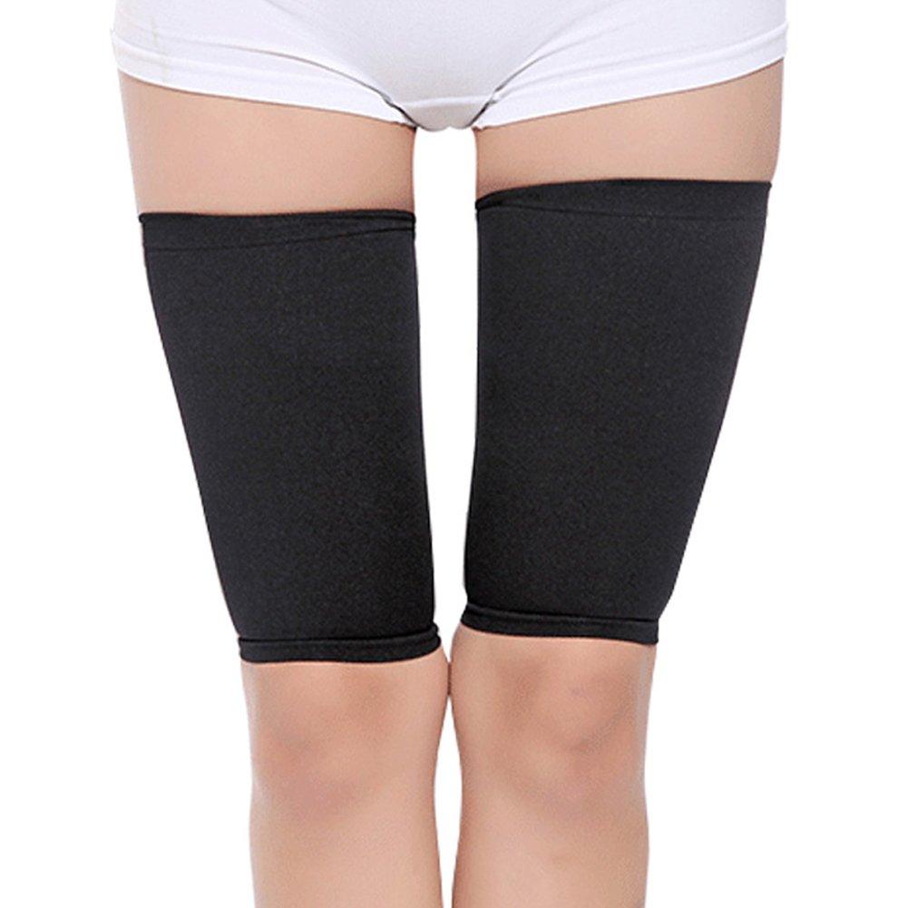 1 par mulheres bodyshaper estiramento magro corpo forma perna magro shapewear emagrecimento coxa cinto perna suor perda de peso fitness