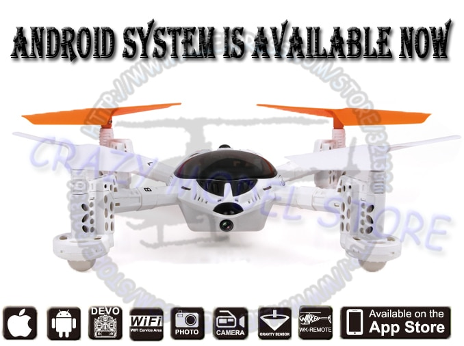 New Android Version!! WALKERA QR W100S FPV HD Camera UFO Controlled by DEVO Series Transmitter, IOS,