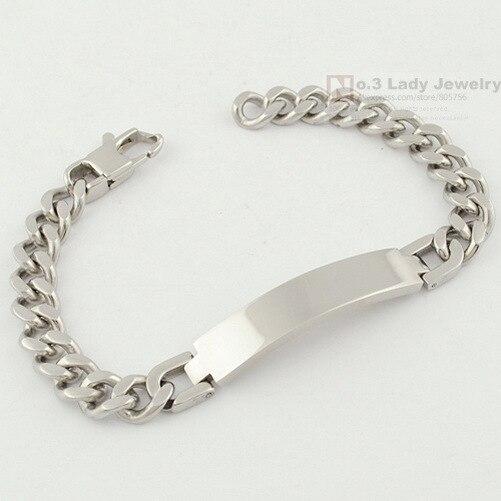 Gokadima 21.5cm, 9mm, Fashion Stainless Steel ID Bracelet Hand Chain Mens Jewellery New Arrivals, Wholesale WB055