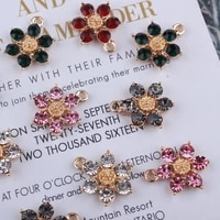 10pcslot 1521mm fashion jewelry floating charms crystal flower mixed color crystal charm for women accessories