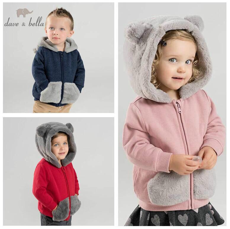 dbj8665 ativo bella inverno jaqueta adoravel de bebe criancas moda externa casaco com capuz