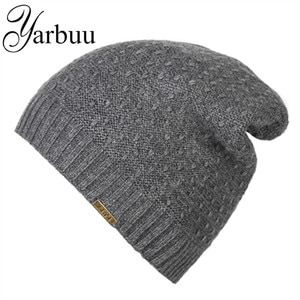 [YARBUU] Knitted hat 2016 Winter Beanies Solid Color Hat winter hats for men new fashion high quality Head caps free shipping