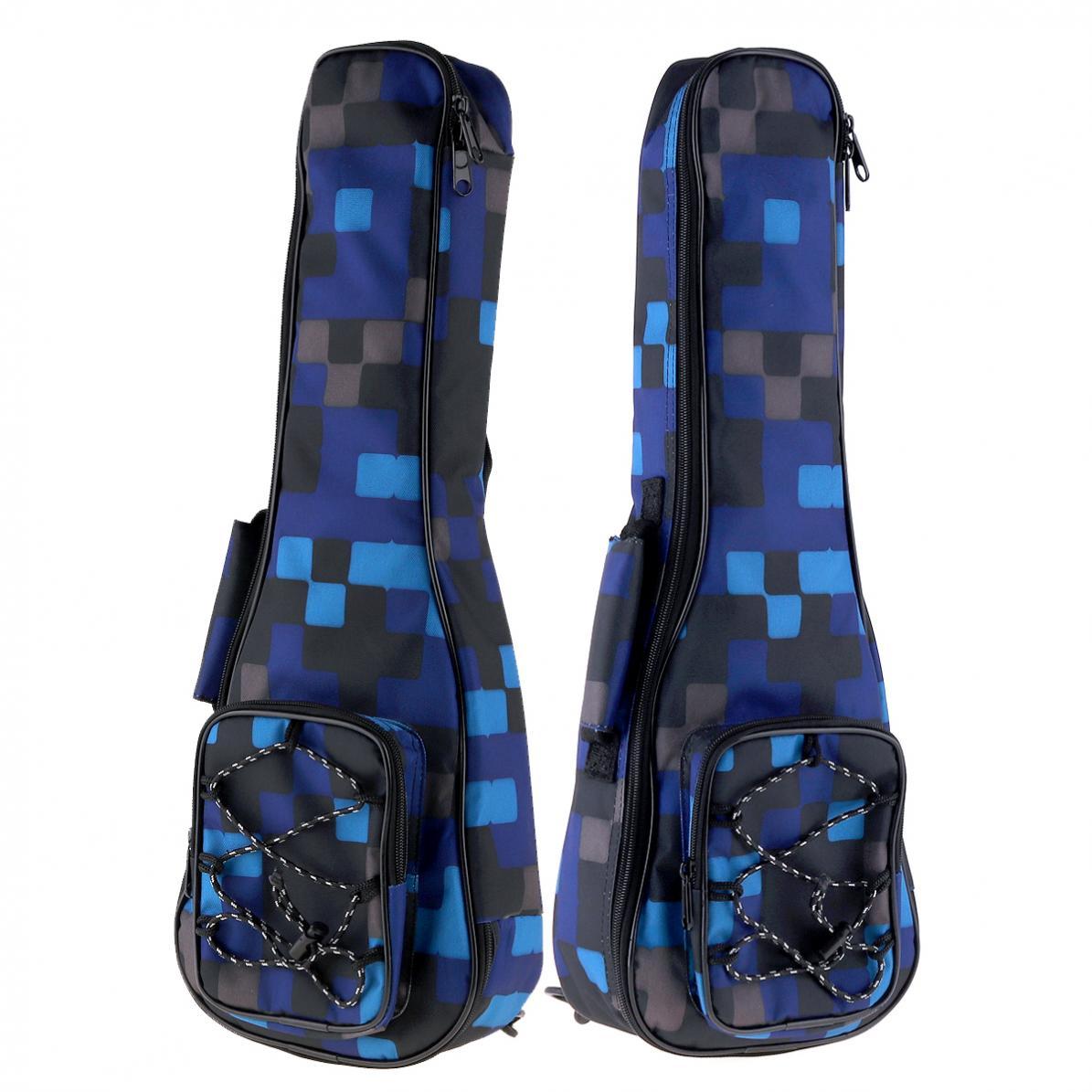 21 Inch Colorful Ukulele Bag 10mm Cotton Soft Case Gig Ukulele Mini Guitar Backpack 2 Colors Optional enlarge