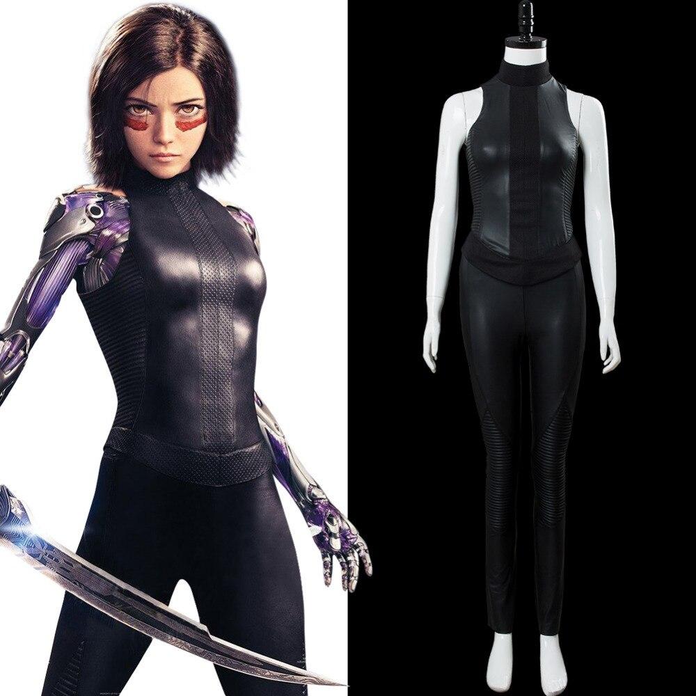 Disfraz de Alita, uniforme de Battle Angel, disfraz de Alita, disfraz de Cosplay, disfraz de Halloween y Carnaval para mujeres adultas