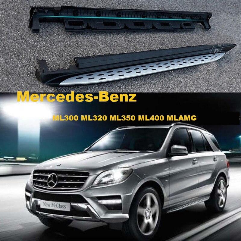 Bar Passo Lado Estribos Pedais do carro Para Mercedes-Benz ML300 ML400 ML320 ML350 2012-2017 Alta Qualidade Brand New Nerf Bares