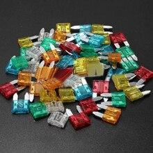 Lot de 60 Mini lames de voiture   Kit dassortiment de fusibles 5A 10A 15A 20A 25/30A