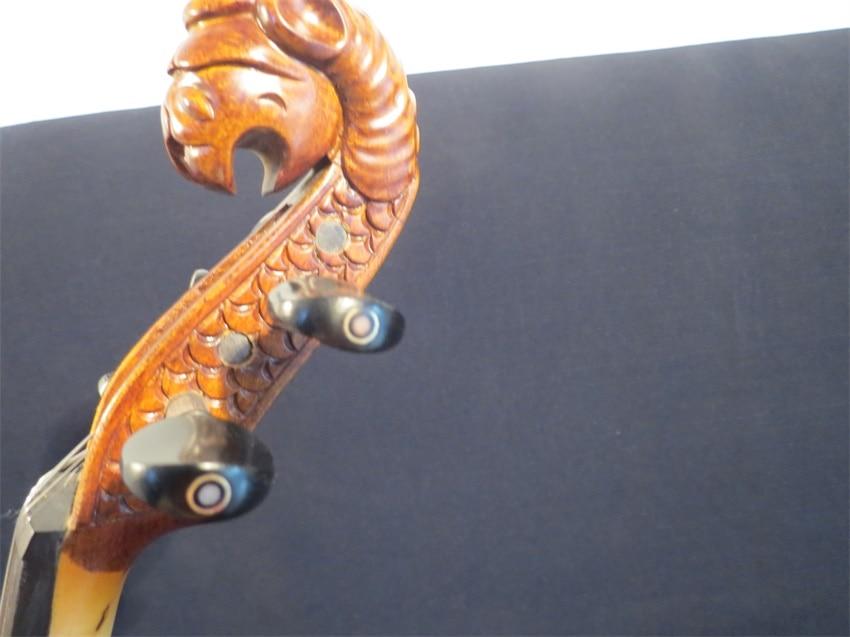 Streamline carved animal scroll 5 strings 4/4 electric violin,solid wood enlarge