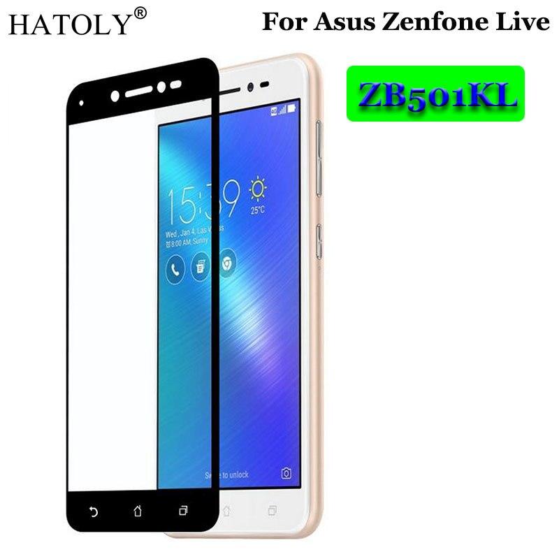 Vidrio Templado Asus Zenfone Live ZB501KL Protector de pantalla de película de vidrio completo para Asus Zenfone Live Glass Zenfone Live ZB501KL