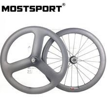 20inch 451 Front Carbon Wheels Rear Tri Spoke Carbon Wheels For Folding Bike