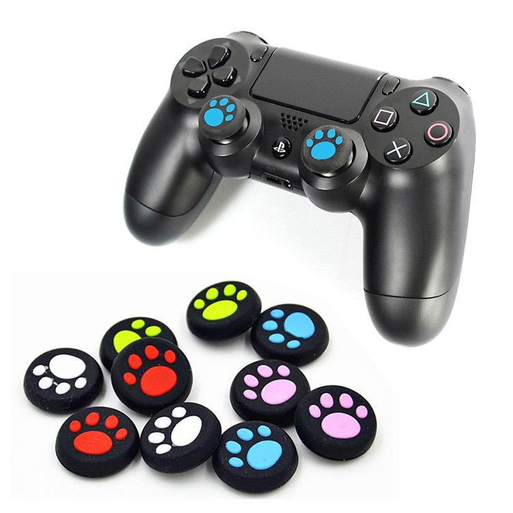 2pcs Silicone Catlike Joystick Thumb Stick Grip Cap Cover Case Analog Caps Controller Grips Game Component