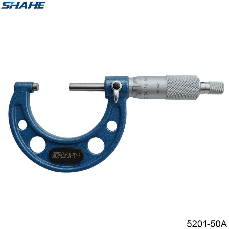 Micrómetro exterior de 25-50mm de SHAHE, micrometro Interior Exterior de miromo de 0,01mm, 25-50 5201-50A