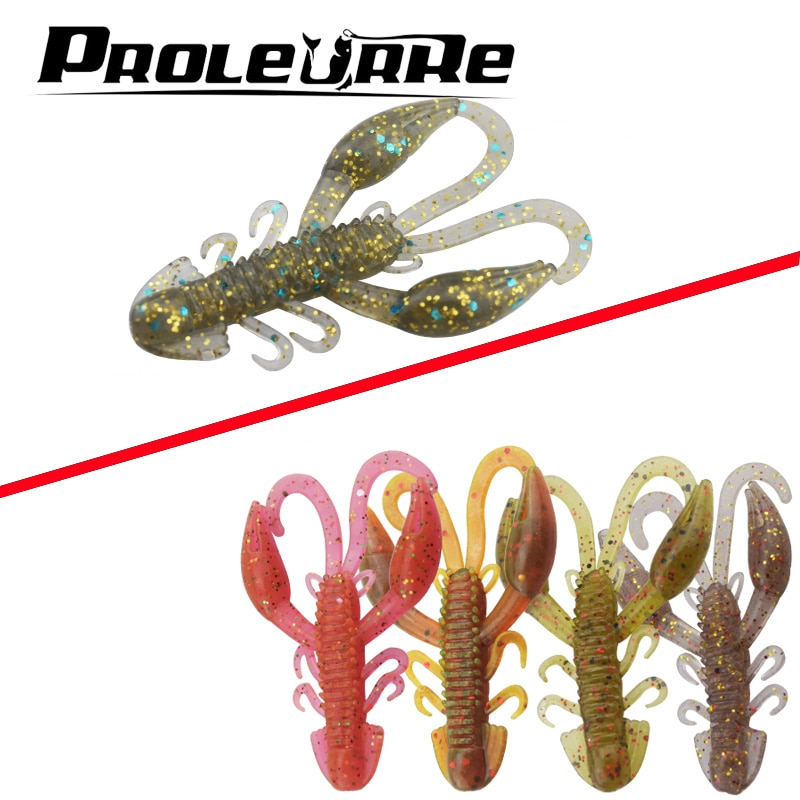 20 unids/lote cebos personalizados Super Craws 5cm/2,2g suave señuelo de pesca para pesca con cebo blando Camarón Bass Bait Peche aparejos de pesca