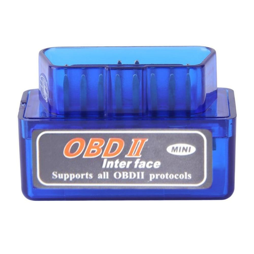 NewMini Styling BK3231 portátil ELM327 V2.1 OBD2 II Bluetooth diagnóstico coche interfaz escáner azul Premium ABS herramienta de diagnóstico