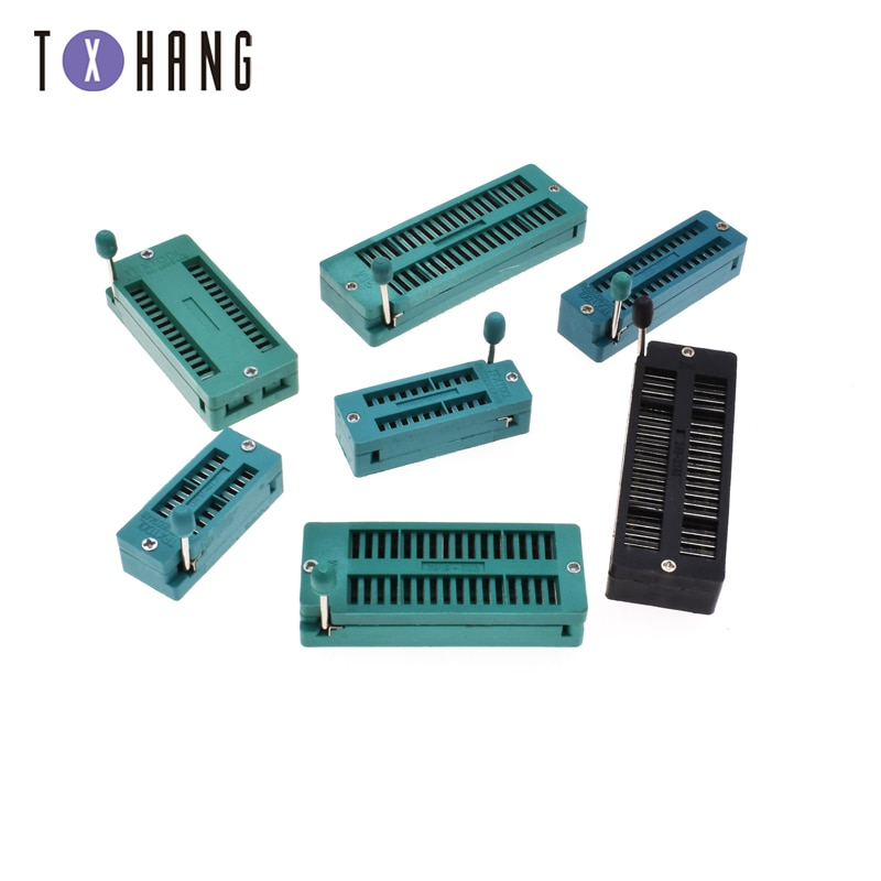 1PCS 16/20/28/28(WIDE)/32/40/40(BLACK) pin IC Test Universal ZIF Socket Hot