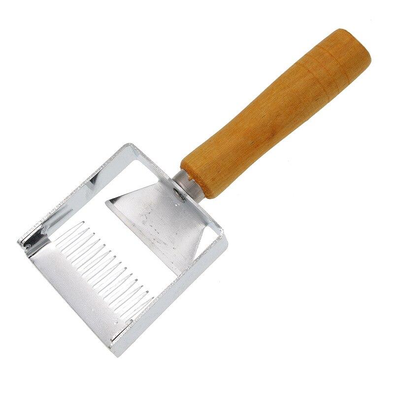 1 Uds., horquilla de hierro, raspador de miel de nido de abeja, mango de madera, herramienta de Apicultura, equipo de Apicultura