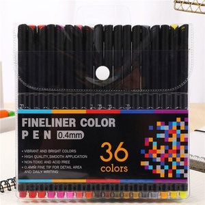 36 Colors Anime Manga 0.4mm Fine Liner Pens Graffiti Sketch Tipped Pen Drawing Markers For Painting Stationery Art Supplies