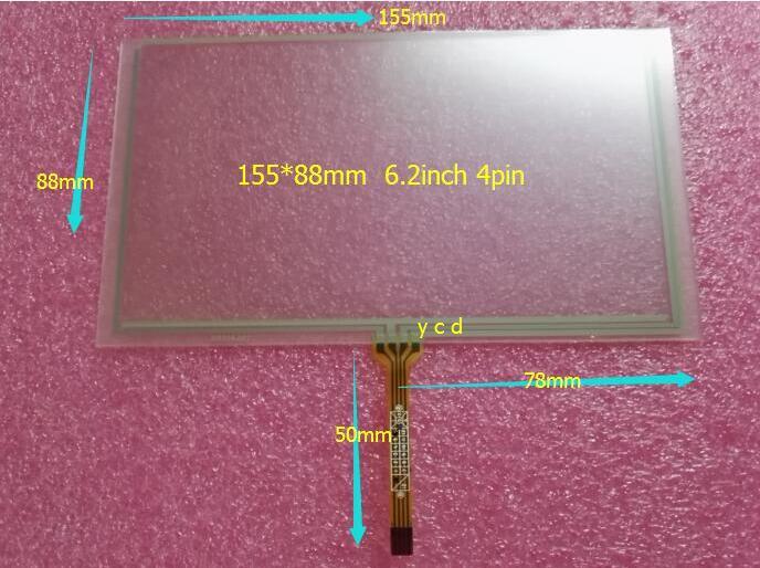 Trainborn 6.2 touch screen hsd062idw1-a00 a20 tm062rdh03 handwritten screen 155*88