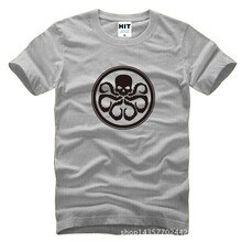 Vingadores capitão américa Red Skull Hydra impresso Mens homens T Tshirt da camisa da forma 2015 O pescoço t-shirt de algodão T Camisetas Hombre