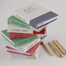 1 PC nouveauté couverture rigide Mini cahier épisode journal intime livre double bloc-Notes Notes autocollantes avec stylo à bille
