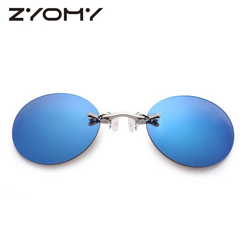 Q ZYOMY, круглые очки, аксессуары, Ретро стиль, Pince Nez, очки для носа, унисекс, очки, винтажные, классические, Oculos De sol