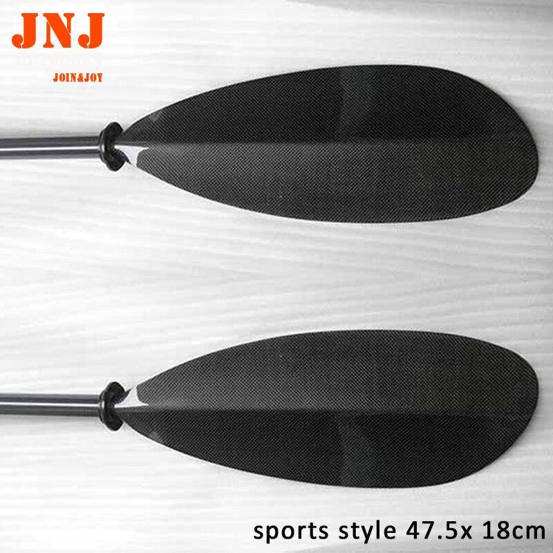 Ajustable estilo deportivo Kayak Paddle Oval Shaft 10cm ajuste de longitud y bolsa libre