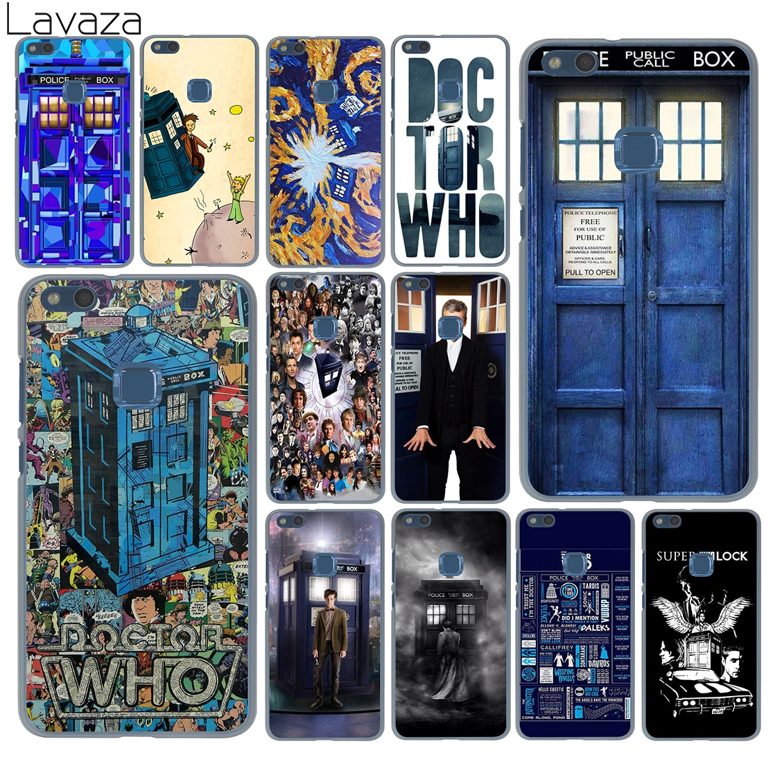 Doctor who tardis Lavaza artwork azul Caso para Huawei P30 P20 Pro P9 P10 Plus P8 Mini Lite 2016 2017 P Z inteligente 2019