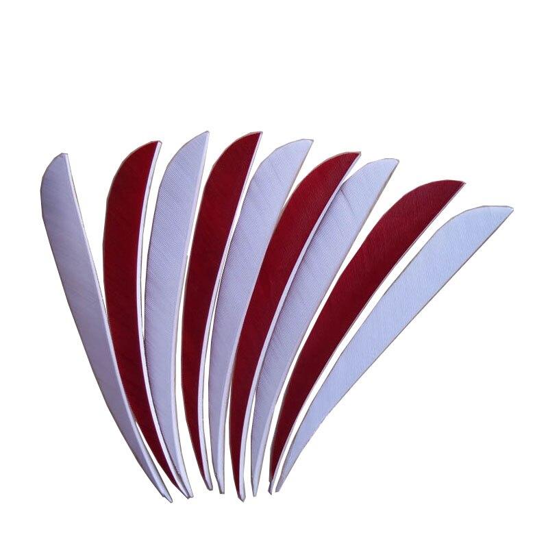 20 шт. белое перо для стрел + 10 шт. Красная стрела для травления 5 дюймов длинная стрела травление Бесплатная доставка