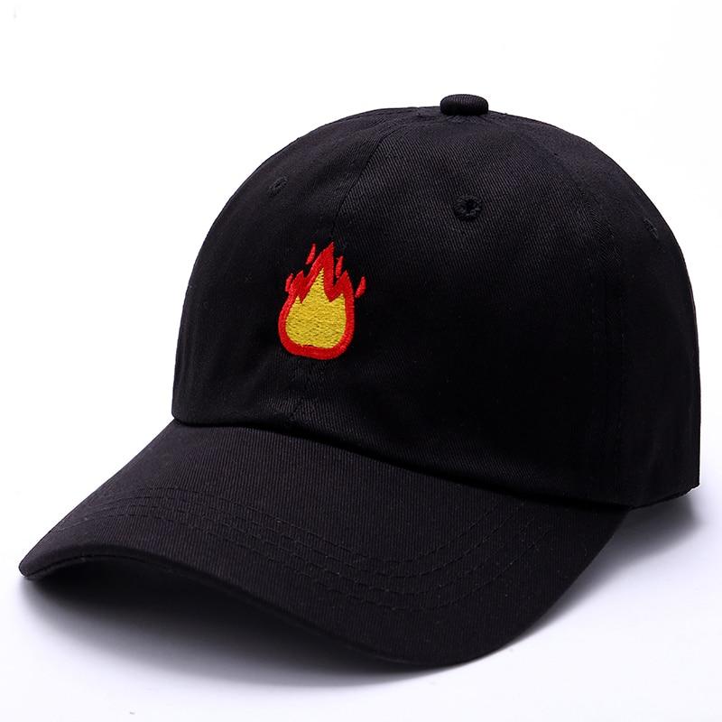 2017 Fashion Baseball Cap with FIRE Embroidery Men Hat Summer Fall Brand Cotton Black Caps Women Men hat trucker Dad Hats