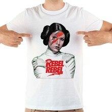 JOLLYPEACH العلامة التجارية الأميرة ليا المتمردين مضحك التي شيرت الرجال جديد الأبيض قصيرة الأكمام عارضة أوم بارد t قميص
