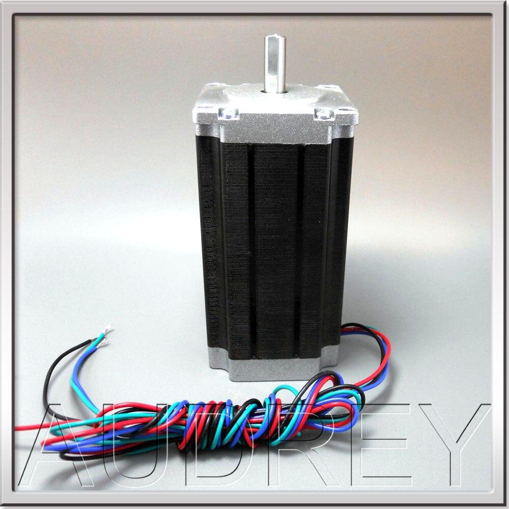 CE ROHS NEMA23 عزم دوران عالي قوة عالية 57 مللي متر 2 المرحلة محرك أشواط هجين طول 112 مللي متر 4.8 فولت 3A 4-wire 28kg. cm 3000rpm 36 واط 1.8deg.