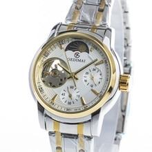 GEDIMAI Women Top Brand Luxury Fashion Watch automatic mechanical female watch gold Waterproof  Wristwatch relogio feminino
