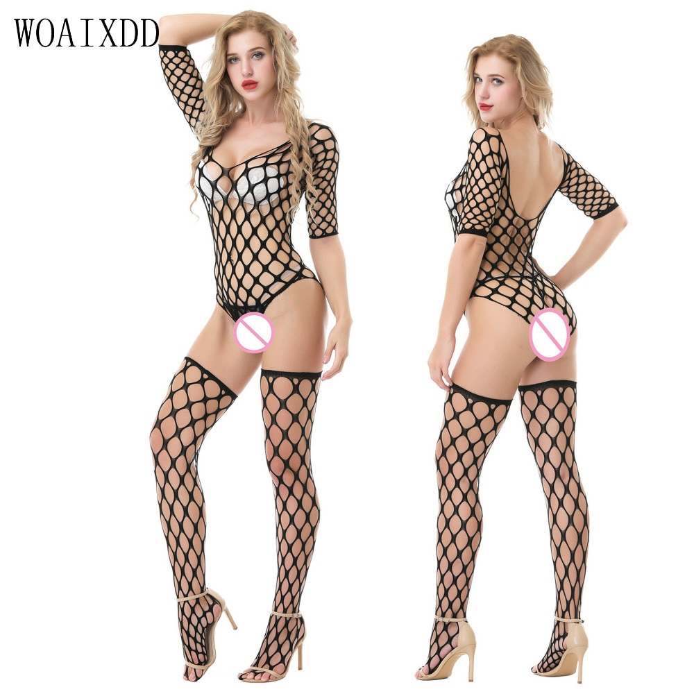 Novelty Lace Hollow Out Open Bra Sexy Sexy Bodystocking Special Use Women Erotic Lingerie Open Crotc