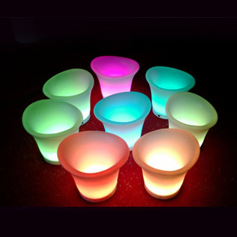USB rechargeable LED night light ice chair lamp RGB Floating IP68 outdoor waterproof decor lights with remote control for bar enlarge